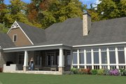 Craftsman Style House Plan - 5 Beds 3 Baths 4425 Sq/Ft Plan #63-392 Exterior - Rear Elevation