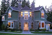 European Style House Plan - 4 Beds 3.5 Baths 4400 Sq/Ft Plan #132-168 Exterior - Front Elevation