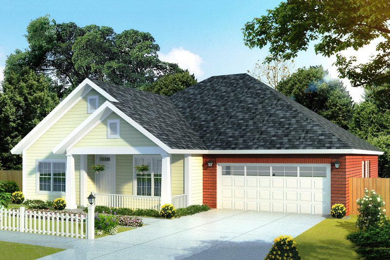 Architectural House Design - Traditional Exterior - Front Elevation Plan #513-7
