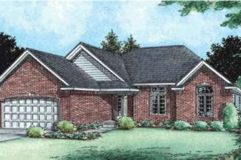 Traditional Exterior - Front Elevation Plan #20-1800 - Houseplans.com