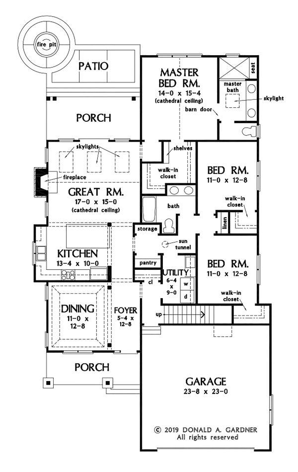 Cottage Floor Plan - Main Floor Plan #929-1093