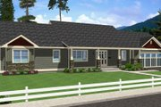 Ranch Style House Plan - 2 Beds 3 Baths 1730 Sq/Ft Plan #126-163 Exterior - Front Elevation