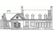 Classical Style House Plan - 4 Beds 3 Baths 3329 Sq/Ft Plan #137-127 Exterior - Rear Elevation