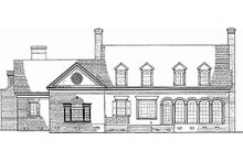 Dream House Plan - Classical Exterior - Rear Elevation Plan #137-127