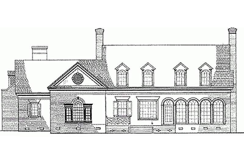 Classical Exterior - Rear Elevation Plan #137-127 - Houseplans.com