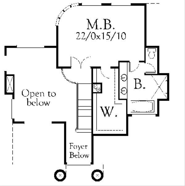 Cottage Floor Plan - Upper Floor Plan Plan #509-10