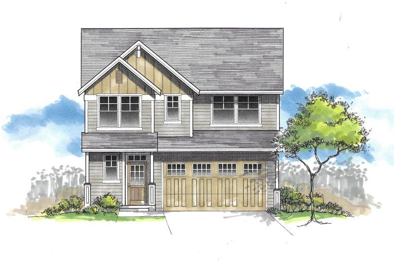 Architectural House Design - Craftsman Exterior - Front Elevation Plan #53-626