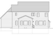 Colonial Exterior - Rear Elevation Plan #1010-154