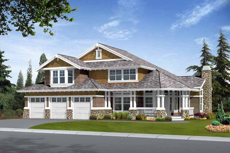 Dream House Plan - Craftsman Exterior - Front Elevation Plan #132-409