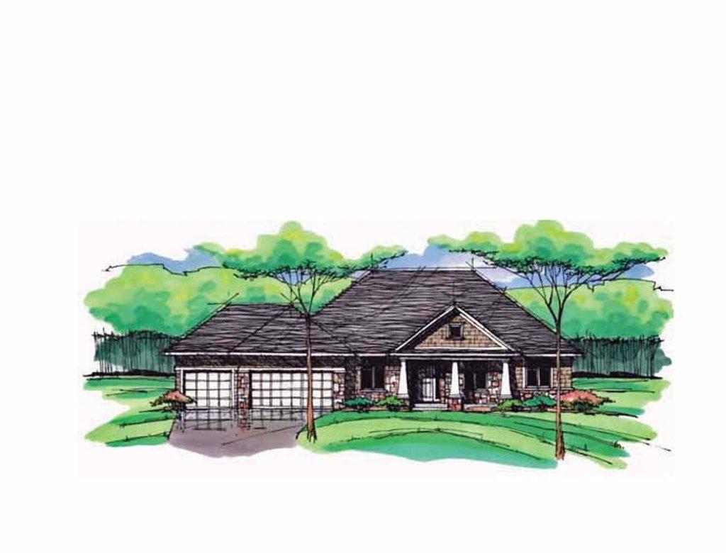 European Style House Plan - 5 Beds 3 Baths 3290 Sq/Ft Plan