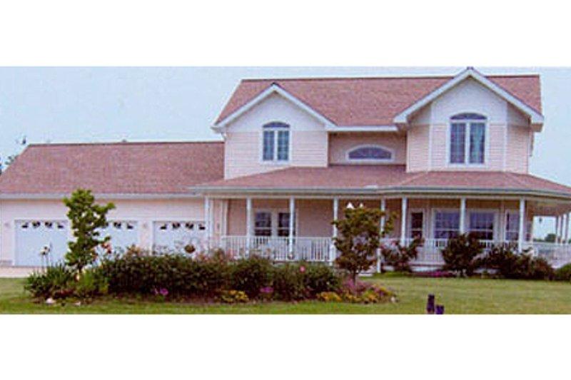 Dream House Plan - Farmhouse Exterior - Front Elevation Plan #124-407