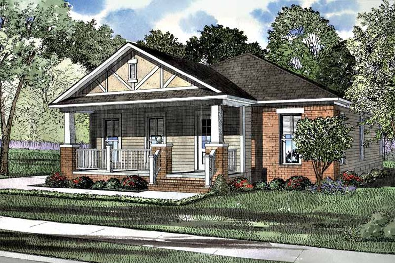 Craftsman Exterior - Front Elevation Plan #17-3189