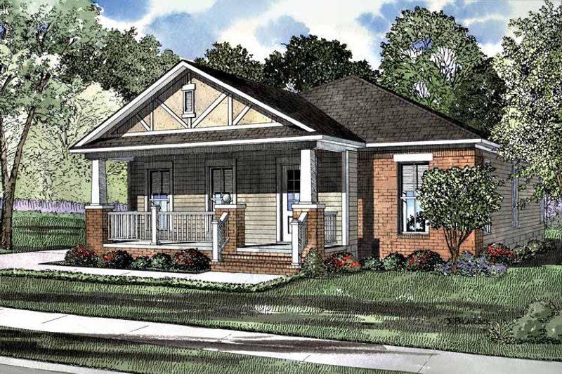 Dream House Plan - Craftsman Exterior - Front Elevation Plan #17-3189