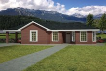 Ranch Exterior - Front Elevation Plan #1061-31
