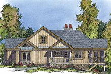 Country Exterior - Front Elevation Plan #1016-44