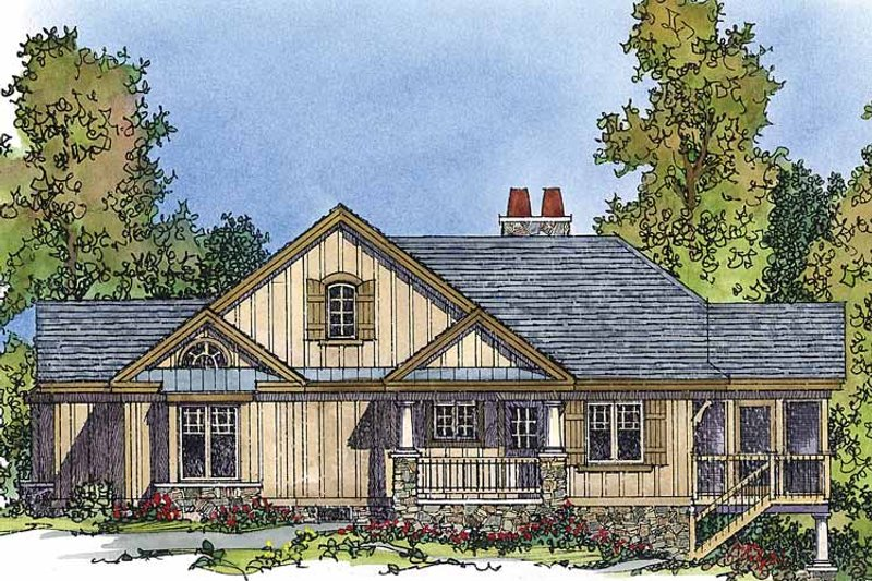 Country Exterior - Front Elevation Plan #1016-44 - Houseplans.com