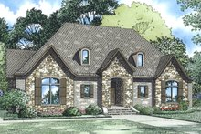 European Exterior - Front Elevation Plan #17-3388
