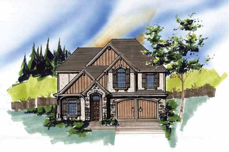 Traditional Exterior - Front Elevation Plan #509-338 - Houseplans.com