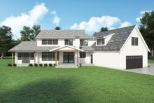 House Plan Design - Farmhouse Exterior - Rear Elevation Plan #1070-135