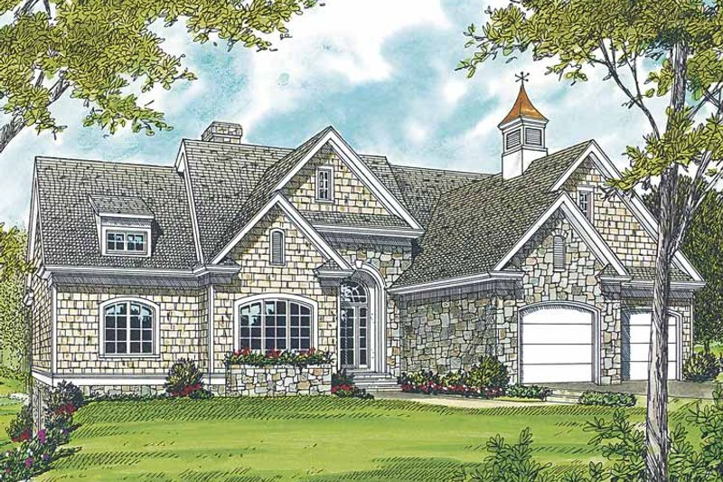 Country Exterior - Front Elevation Plan #453-301 - Houseplans.com