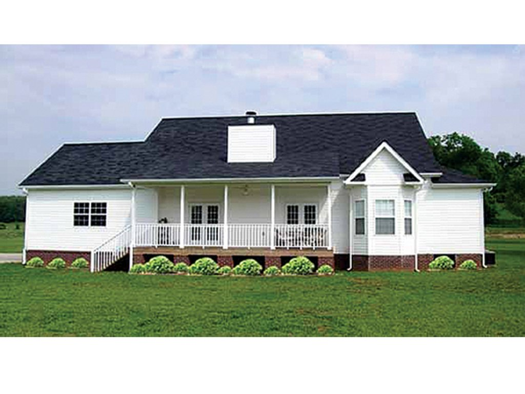 Colonial Style House Plan  Ft Plan
