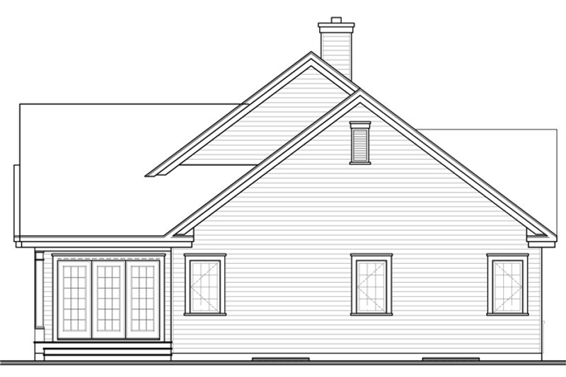 Country Exterior - Rear Elevation Plan #23-2574 - Houseplans.com