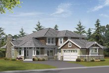Prairie Exterior - Front Elevation Plan #132-398