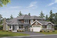 Architectural House Design - Prairie Exterior - Front Elevation Plan #132-398