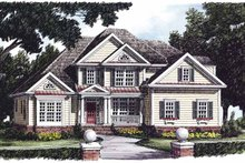 Dream House Plan - Country Exterior - Front Elevation Plan #927-472