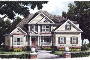 Country Exterior - Front Elevation Plan #927-472
