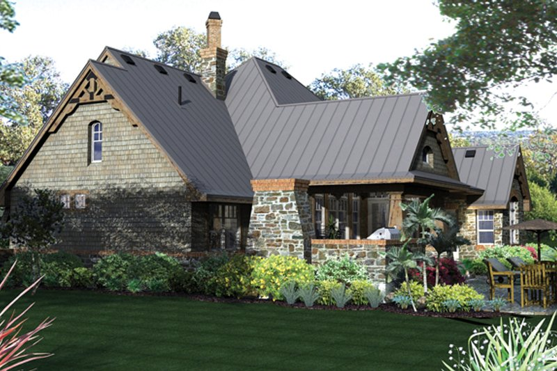 Country Exterior - Rear Elevation Plan #120-243 - Houseplans.com