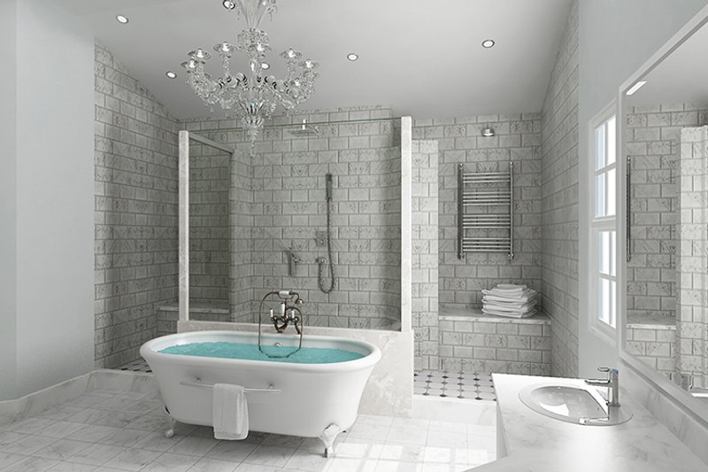 Craftsman Interior - Master Bathroom Plan #119-426 - Houseplans.com