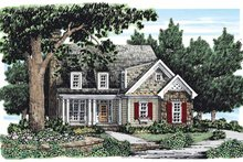 Country Exterior - Front Elevation Plan #927-163