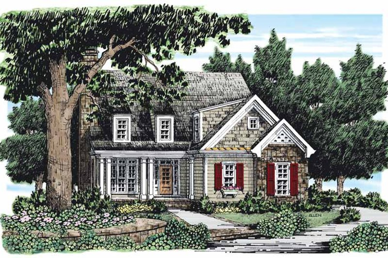 Country Exterior - Front Elevation Plan #927-163 - Houseplans.com