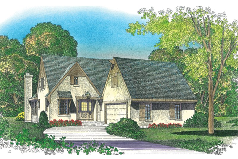 European Exterior - Front Elevation Plan #1016-108 - Houseplans.com