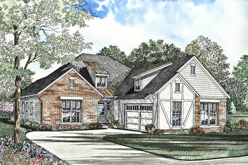 Traditional Exterior - Front Elevation Plan #17-3006