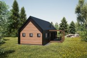 Modern Style House Plan - 2 Beds 2 Baths 853 Sq/Ft Plan #933-11 Exterior - Other Elevation