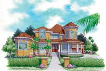 Mediterranean Exterior - Front Elevation Plan #930-164