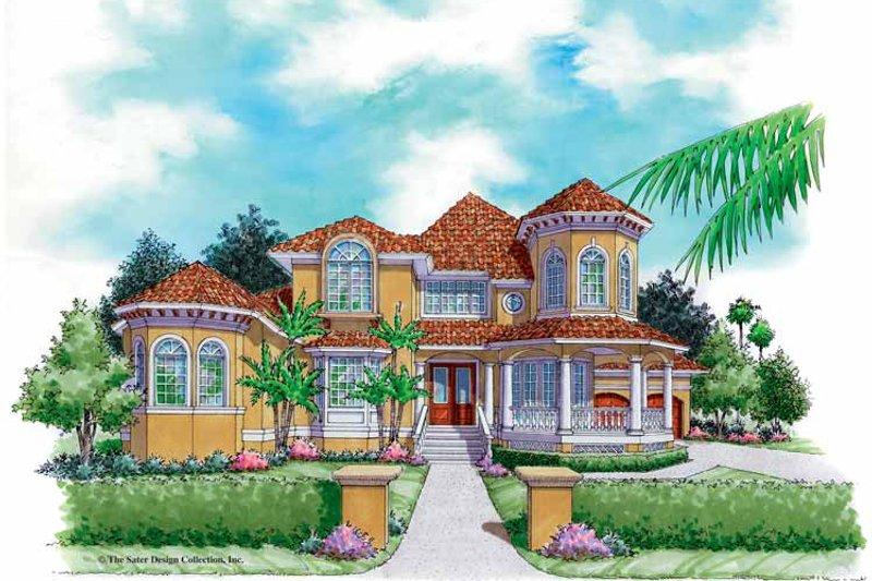 Architectural House Design - Mediterranean Exterior - Front Elevation Plan #930-164