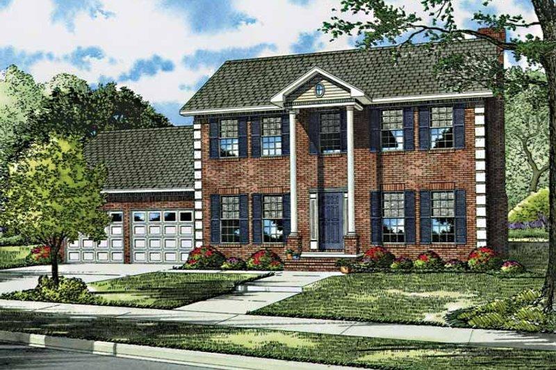 Classical Exterior - Front Elevation Plan #17-3044 - Houseplans.com