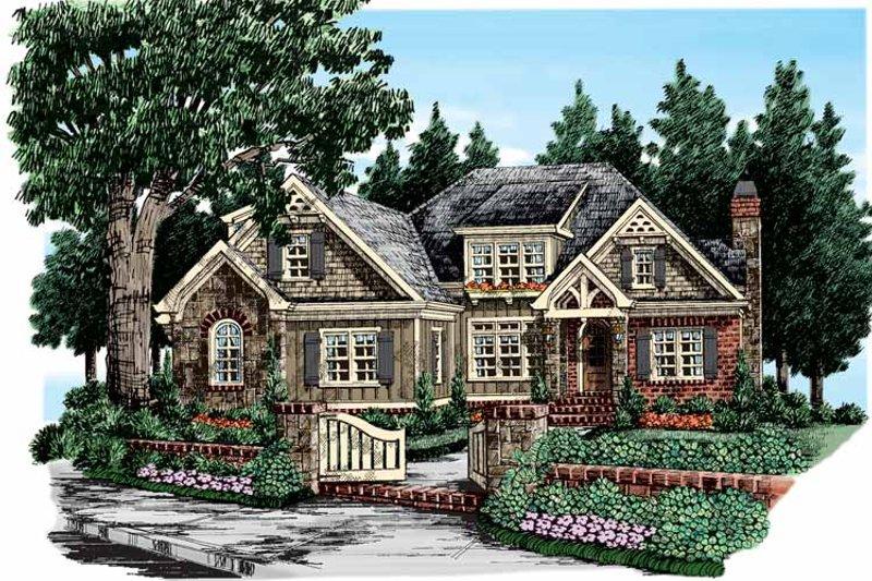 House Plan Design - European Exterior - Front Elevation Plan #927-358