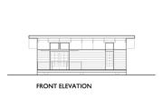 Modern Style House Plan - 1 Beds 1 Baths 640 Sq/Ft Plan #890-4 Exterior - Other Elevation