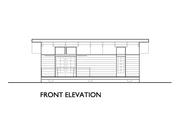 Modern Style House Plan - 1 Beds 1 Baths 640 Sq/Ft Plan #890-4