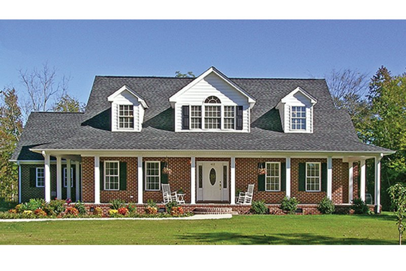 Country Exterior - Front Elevation Plan #314-281
