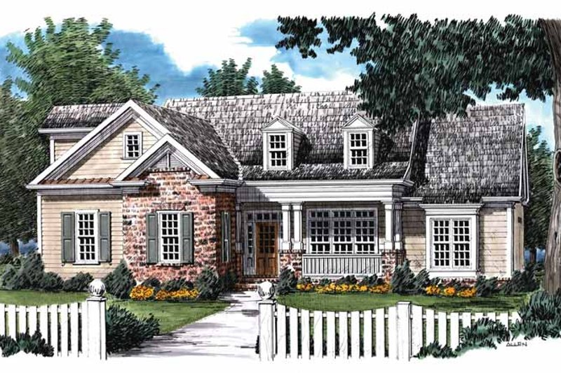 Country Exterior - Front Elevation Plan #927-833