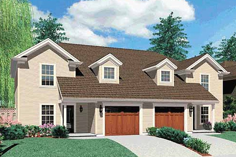 Colonial Exterior - Front Elevation Plan #48-817