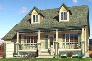Cottage Exterior - Front Elevation Plan #138-297
