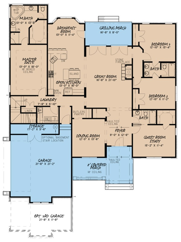 Traditional Floor Plan - Main Floor Plan #923-77