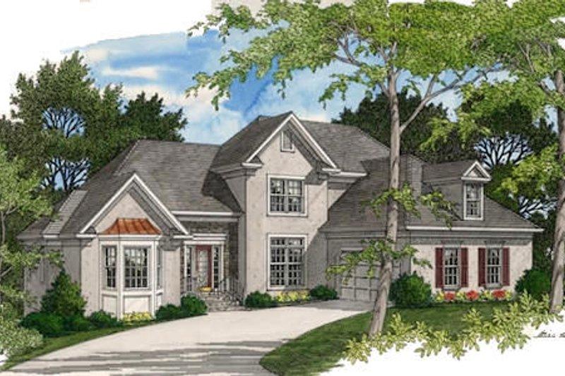 House Plan Design - European Exterior - Front Elevation Plan #56-196
