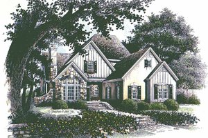 Country Exterior - Front Elevation Plan #429-292
